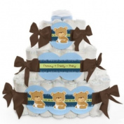 Baby Nappy Cake - Boy Baby Teddy Bear - 3 Tier