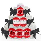 Baby Nappy Cake - Modern Ladybug - 3 Tier