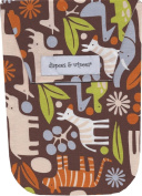 Diapees & Wipees Brown Zoo Animals Baby Nappy and Wipes Bag