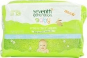 Seventh Generation Baby Free and Clear Wipes -- 128 Unscented Wipes