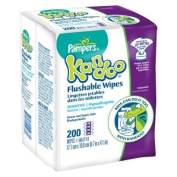 Pampers Kandoo Flushable Sensitive Wipes, 200 Count