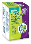 Pampers Kandoo Flushable Wipes, Value Pack, Magic Melon, 250 ea