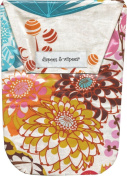 Diapees & Wipees Waterproof Jubilee Flower Baby Nappy and Wipes Bag