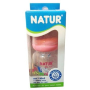 NATUR Pink Baby Feeding Bottle with size S nipple BPA Free 2 oz / 60 ml