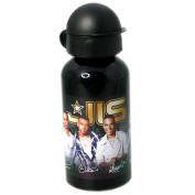 Jls 'Black and Gold' Aluminium Water Bottle