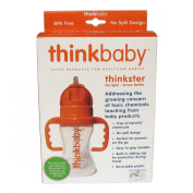 Thinkbaby - Thinkster Straw Bottle - Kids Water and Drink Bottle No BPA - 9oz / 266ml - Orange