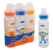 Evenflo Zoo Friends 3 Count Standard Nipple Bottle
