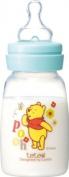 teteo Winnie the Pooh Polypropylene 100 ml Milk Training Feeding Bottle, S Size