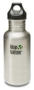 Klean Kanteen 530ml Stainless Steel Water Bottle (Loop Cap in Black) - Brushed Stainless