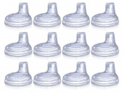 Nuby Soft Silicone No-Spill Replacement Spout - 12 Pack