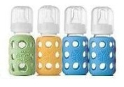 Lifefactory Glass Baby Bottles 4 Pack