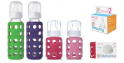 Lifefactory Glass Baby Bottles 4 Pack Starter Kit