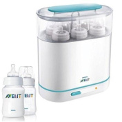 Avent SCF28405 3-in-1 Electric Steam Steriliser with 270ml Twin Pack Bottles
