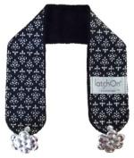 LatchOn Black And White Damask Minky Nursing Blanket Straps