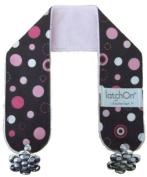 LatchOn Pink Dot Minky Nursing Blanket Straps