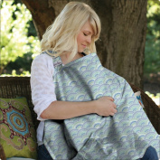Hooter Hiders Cotton Nursing Cover - Namotu Blue