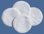 NuAngel 100% Cotton Washable Nursing Pads - White - Made in U.S.A.