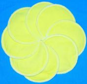 NuAngel Designer Washable Nursing Pads 100% Cotton - Sunshine Yellow - Made in U.S .A. - 8 pads