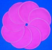 NuAngel Designer Washable Nursing Pads 100% Cotton - Bubble Gum Pink - 8 pads -Made in U.S.A.
