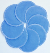 NuAngel Designer Washable Nursing Pads 100% Cotton - Periwinkle Blue - Made in U.S.A.