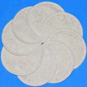 NuAngel Designer Washable Nursing Pads 100% Cotton - Natural Lace - Made in U.S.A.