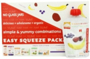 Happy Baby Organic Baby Food, Stage 2, 2 Simple Combos, Banana, Beet and Blueberry, 100ml Pouches