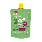 Gogo Apple Berry Squeeze Applesauce on the Go 12 Re-sealable 90ml Pouches