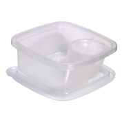 Compac Take A Dip3 Deep Side Clear Food Storage Container With 90ml Dip Section