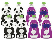 Squooshi Reusable Food Pouches - Large 8 Pack