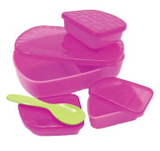 Sassy On the Go Feeding Set, Pink/Purple