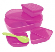 Sassy On the Go Feeding Set, Pink/Purple