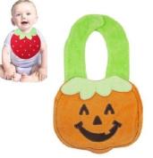 Cute Wool 3D Pumpkin Baby Bib 3-layer Waterproof