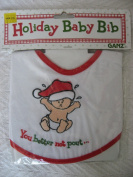 """Ganz Holiday Christmas Baby Bib """"You Better Not Pout"""""""