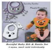 Grasslands Road Halloween Bootiful Baby Bib and Rattle Gift Set
