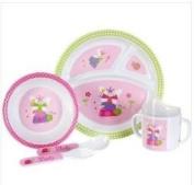 Baby Essentials Ladybug 5-pc. Feeding Set PNK/MULTI