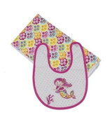 Mermaid Boxed Bib and Burp Set