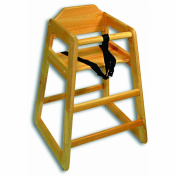 Adcraft HCW-1 Natural Solid Hardwood High Chair, Set Up