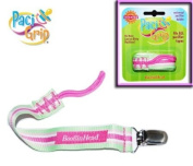 BooginHead PaciGrip Pink/Green/White Stripe Universal Pacifier Strap