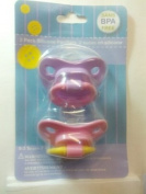 2 pack Silicon Pacifiers, colour varies