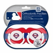 Philadelphia Phillies Pacifiers 2 Pack Safe BPA Free