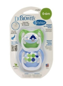 Dr. Brown's PreVent Design Pacifier, Boys, Stage 1, 0-6 Months