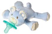 Wubbanub Thready Teddy Pacifier, Blue