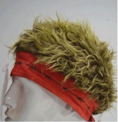 Red Barbed Wire Bandana With Brown Hair