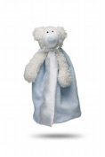 Friendly Pacifier Satin Blanket with Detachable Pacifier, Blue Bear