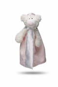 Friendly Pacifier Satin Blanket with Detachable Pacifier, Pink Bear