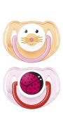 Avent 2 Orthodontal Silicone Classic Animals Soothers 6-18M - Version : Girl