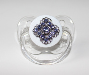 Blingy Blue Crystals Pacifier