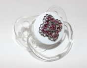 Blingy Pink. Crystals Pacifier