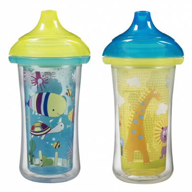 Munchkin Click Lock 2 Count Insulated Sippy Cup, 270ml