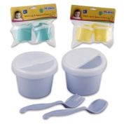 4pc Plastic Snack Cups with Fork & Spoon